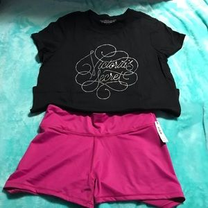 Just In🎁 Victoria's Secret M Shirt & shorts NWT